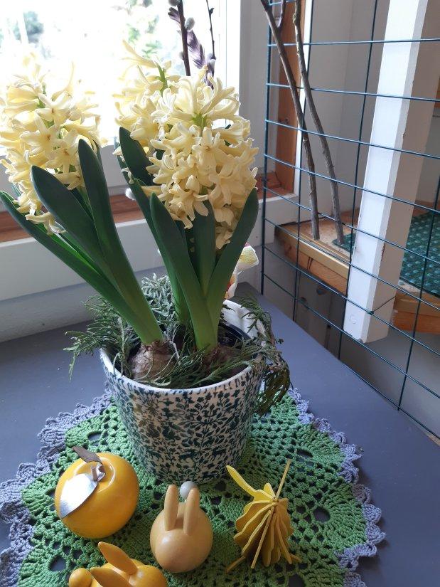 Keltaista pääsiäistä ja keväänvihreää